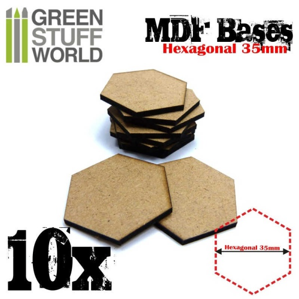 MDF Bases - Hexagonal 35 mm
