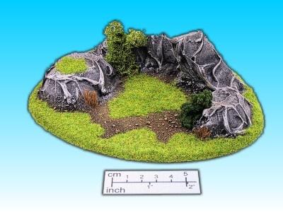 Geländestück Felsengruppe