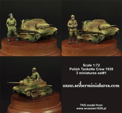 1:72 Polish TKS Tankette Crew Set #1 (3)