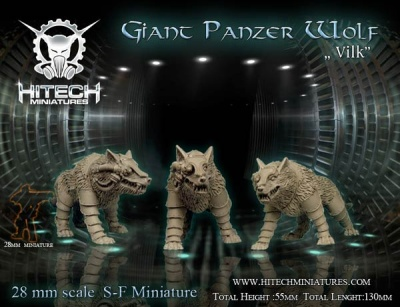 28mm Giant Panzer Wolf