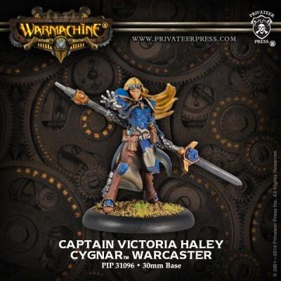 Cygnar Warcaster Capt. Victoria Haley (Resculpt)