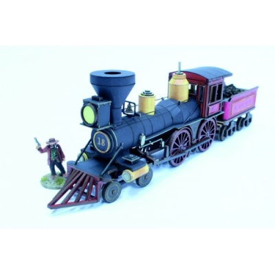 19th C. American Steam Locomotive (Red)