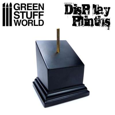 Tapered Bust Plinth 5x5cm Black