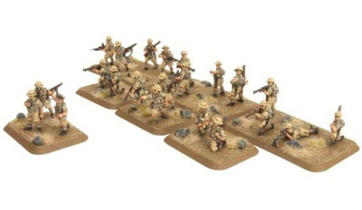 Desert Rats Motor Platoon (plastic, 26 figs)