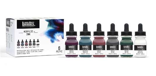 LIQUITEX Acrylic INKS gedämpfte Farben (6x30ml)