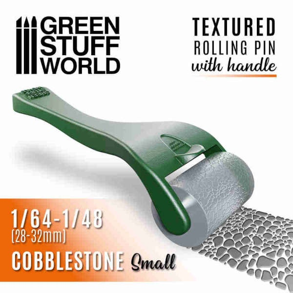 Rolling pin with Handle - Cobblestone Small