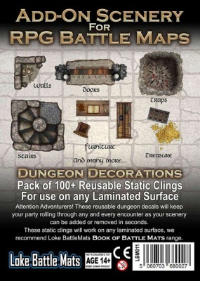 Add-On Scenery for RPG Maps - Dungeon Decorations - EN