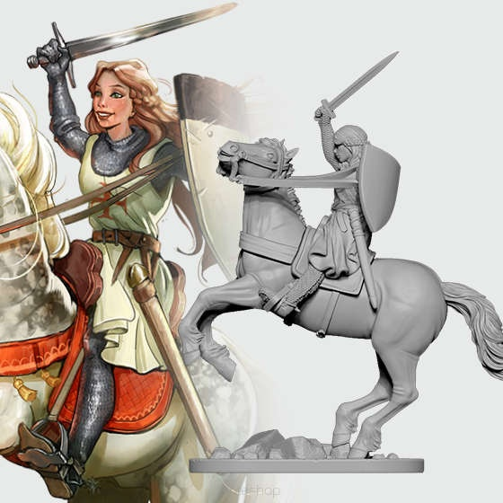 Eleanor the Crusader (54 mm)