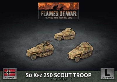 Sd Kfz Scout Troop (Plastic)
