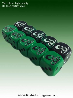 The Ito Clan Faction Dice (10)