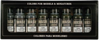 Vallejo Game Color: Washes Set (8)
