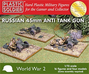 1/72: Russian 45mm anti tank gun (4)