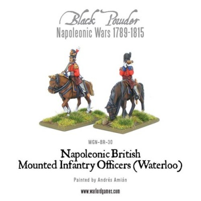 Mounted Napoleonic British Infantry Officers (Waterloo)