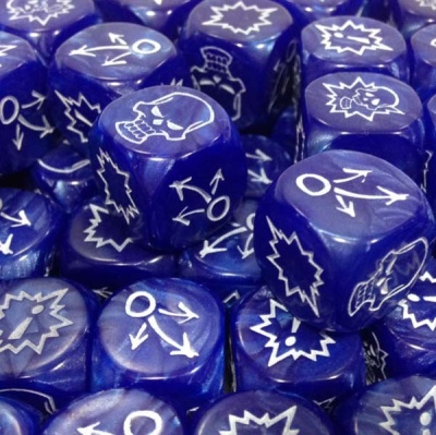 Block Dice Set PEARL BLUE (3)