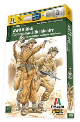 1:56/28mm WW2 British Commonwealth Infantry (10) OOP