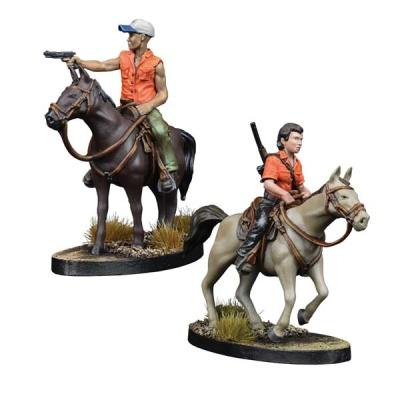 The Walking Dead: Maggie and Glenn on Horseback (2)