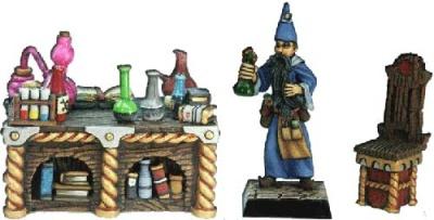 Alchimist und sein Laboratorium (1+Deko)
