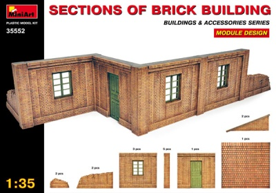 Sections of Brick Building