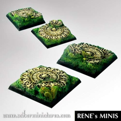 Elven Temple RuinsSquare Bases 40mm (2) (OOP)