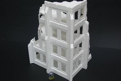 Extended Admin Block mit Gebäudestützen