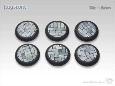 Flagstone Bases 30mm rund (5)