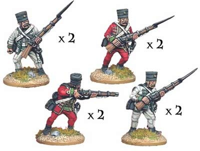 Austrian Grenz Skirmishing (8 figures)