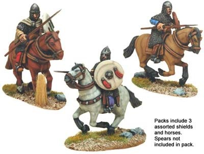 Spanish Knights in Chain with spears (3 figs)