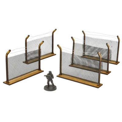 Chain-Link Fences MDF Scenery Set