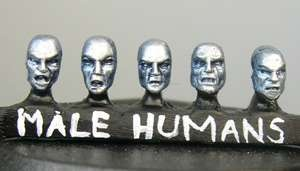 Human male heads (b) Sprue of 5 (5)