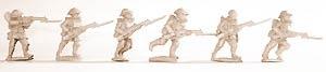 Infantry in gasmasks