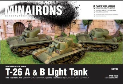 15mm T-26 A & B - Boxed set (5)