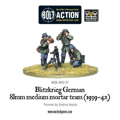 Blitzkrieg German 81mm medium mortar team (1939-42)