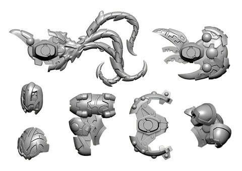 Daemon B Weapon Pack - Warcaster Empyrean Pack (metal)