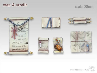 Karte und Schriftrollen (6)