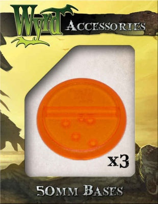 Orange translucent Bases 50mm (3)