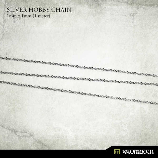 Silver Hobby Chain 1mm x 1mm