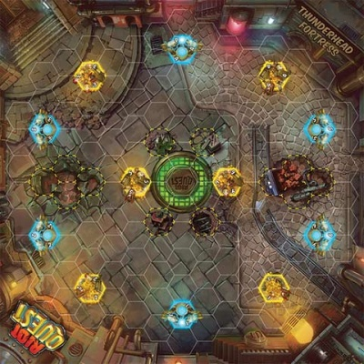 Thunderhead Fortress - Riot Quest fabric playmat