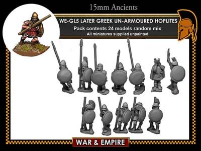 Later Greek, Light-equipped Hoplites