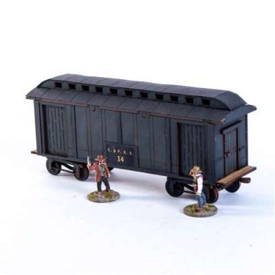 19th C. American Baggage Car (Black)