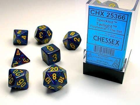 Chessex Twilight Speckled 7-Die Set