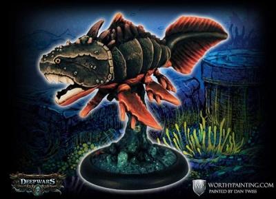 Steel-Jaw Placoderm Fish