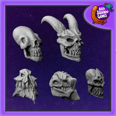 Undead Monster Skulls (5)