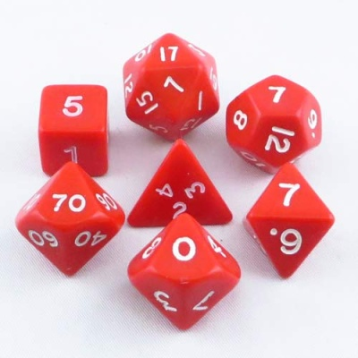 7er Set Opaque: Red (7)