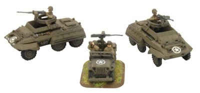Tank Destroyer Security Section (2 M20 Utility Cars + Jeep)