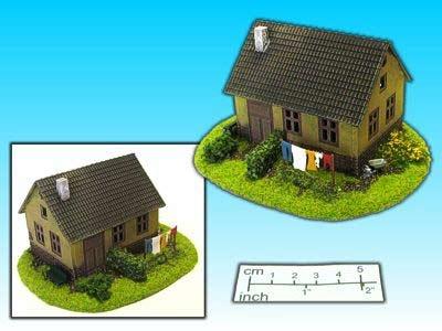 Geländestück Haus mit Garten (15mm)