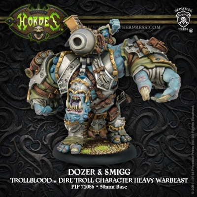 Trollblood Character Heavy Warbeast Dozer and Smigg