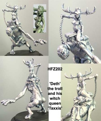Queen Taxxis and her undead troll 'Deth'