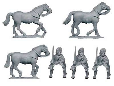 Austrian Dragoon Grenadier co. (3figs)