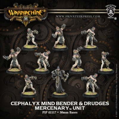 Mercenary Cephalyx Mind Bender & Drudges Unit (10)
