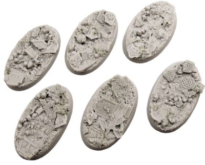 Graveyard Bases, Oval 60mm (4)